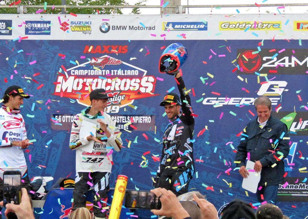 Il podio dei campioni italiani 2019