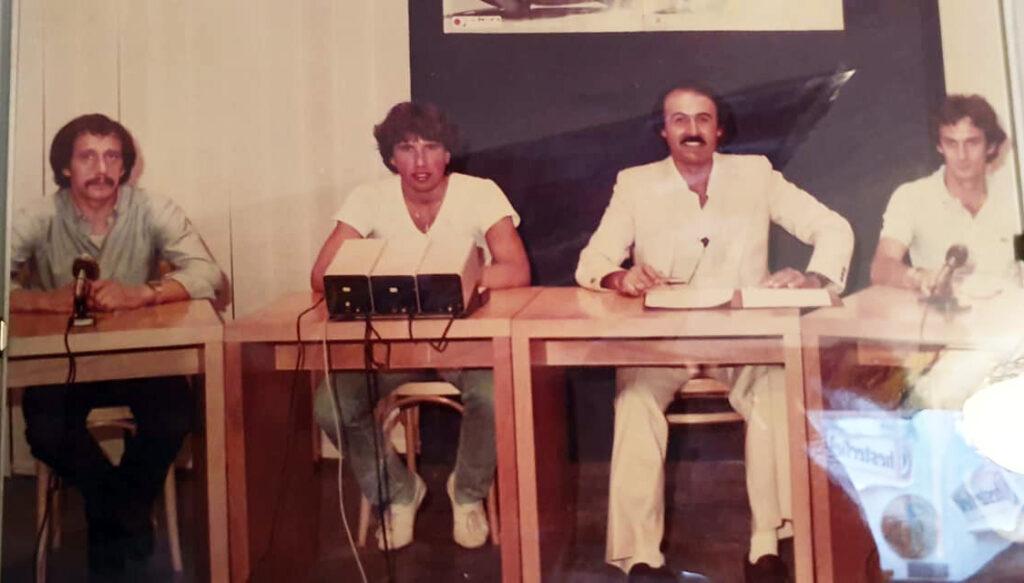 Aldo Esposti con Ino Ulissi, Raffaele Fiorgentili e Franco Uncini