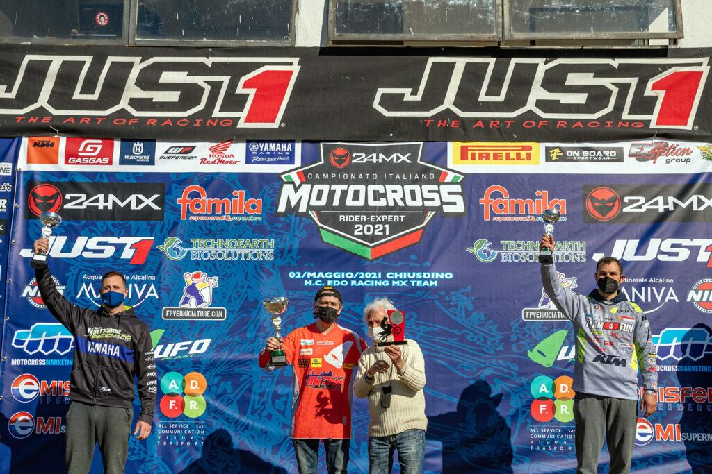 Podio Rider Mx1 Chiusdino - ph. Edoardo Parri & Tommaso Baragatti